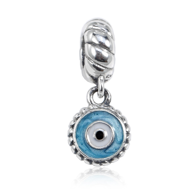 a901a7aef Top Quality Watchful Eye Charms Fits Snake Bracelets 925 Sterling Silver  Mixed Enamels Beads Fine Jewelry Making for Women