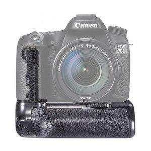 Image 2 - JINTU pil yuvası güç Canon EOS 70D 80D DSLR kamera + 2 adet şarj LP E6 pil kiti yedek BG E14