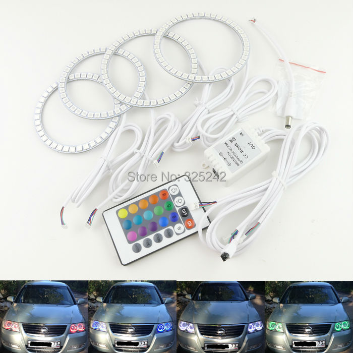 For Renault Samsung SM3 N17 2005 2007 2009 Excellent Angel Eyes Multi-Color Ultra bright RGB LED Angel Eyes Halo Rings
