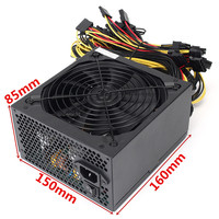 1600W Computer PC Video Card Power Supply GPU Miner Case For ATX Mining Machine BTC Miners
