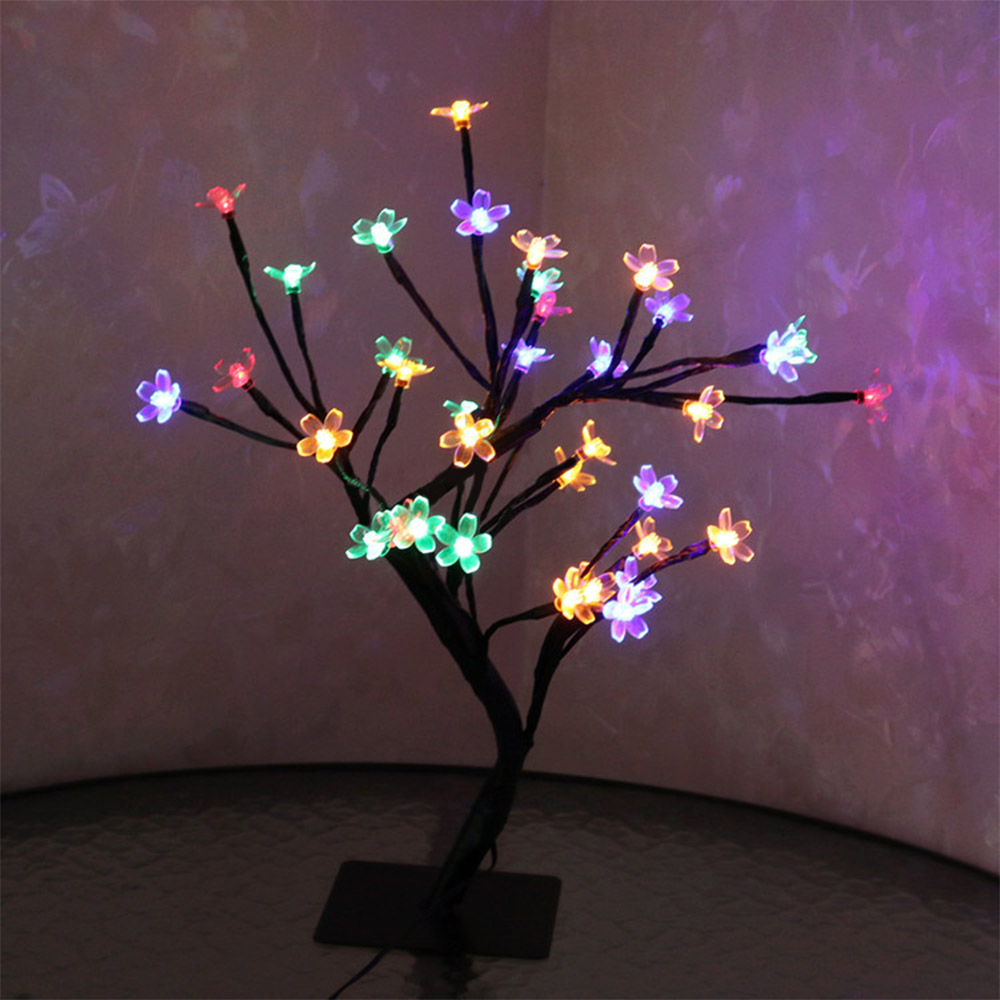 LED Cherry Blossom Lamp 36 Bulbs Christmas Vase Coffee Floral Lamp Tree Branch Lights Decorative Light Wedding Home Bar Decor