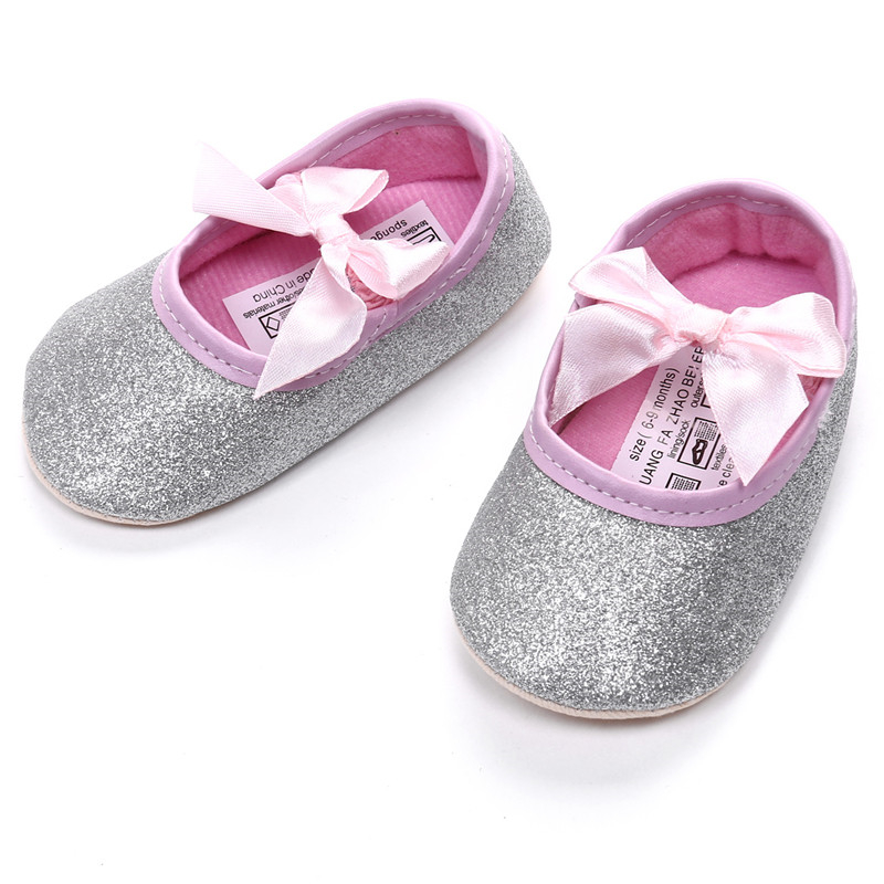 Baby Girls Princess Sparkly Shoes 2017 New Arrival Infant Cute Princess Golden Silver Footwear Toddlers Fashion Soft Sole Shoes