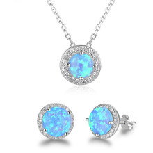 XIYANIKE 925 Sterling Silver Simple Style Natural Crystal Charm Engagement Jewelry Sets Women Ear Accessories Pendant Necklace(China)