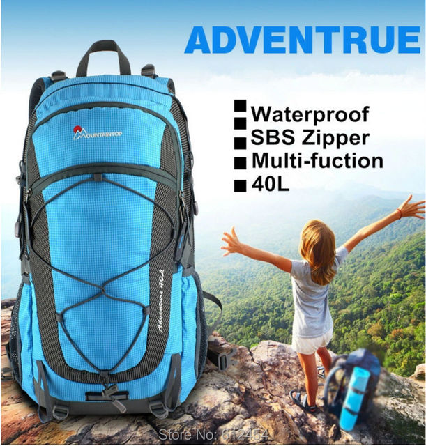 b30460ee63ee 40L Mountaintop Mountain Bag Hiking Backpack Outdoor Shoulders Bag  Waterproof Women s Casual Day Backpacks For Hiking Climping