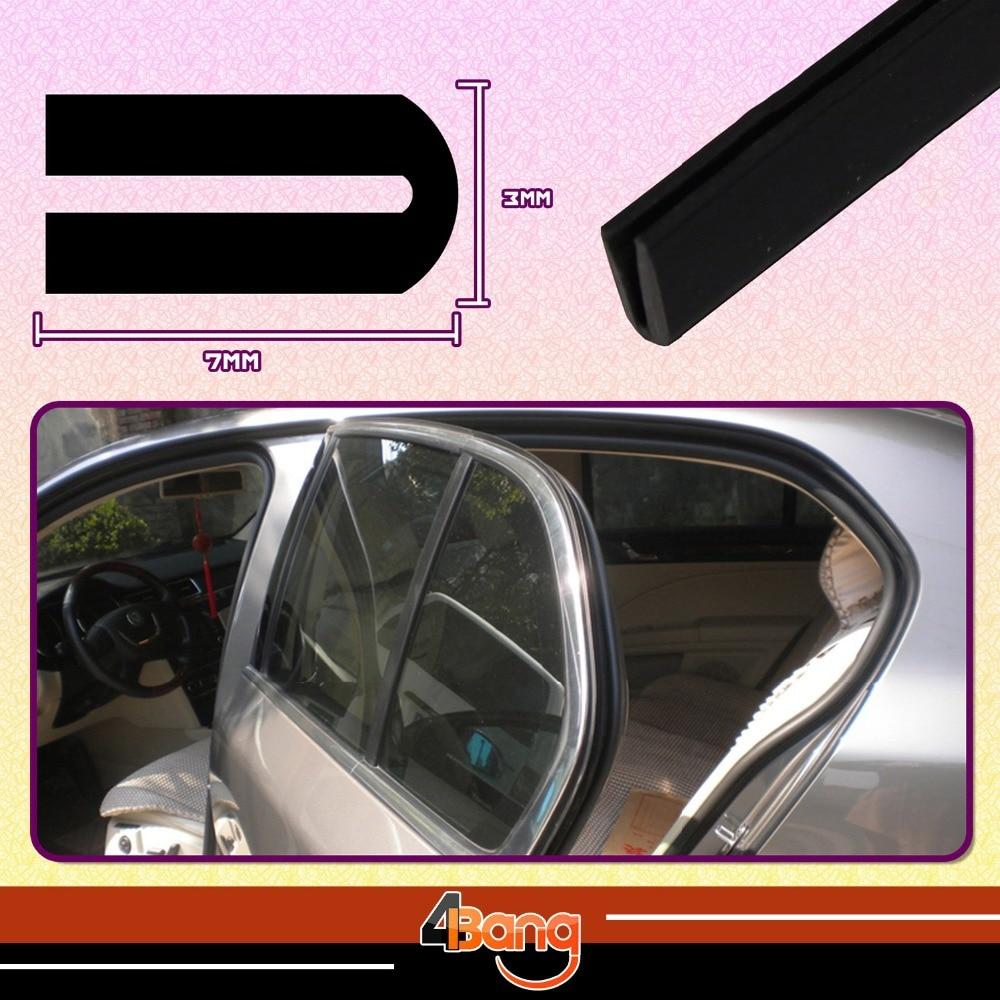 7mm x 3mm U Channel Black Edge Trim Rubber Car Truck Auto Camper Pillar Trailer RV Seal 40 100cm