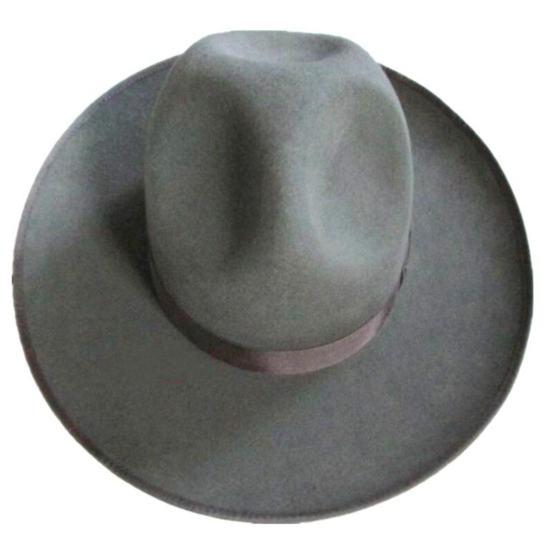 035dcb07253fd9 Grey Israel Jewish Hat/ Wool Hasidic Jew Fedora Cap + Wide Brim 12 ...