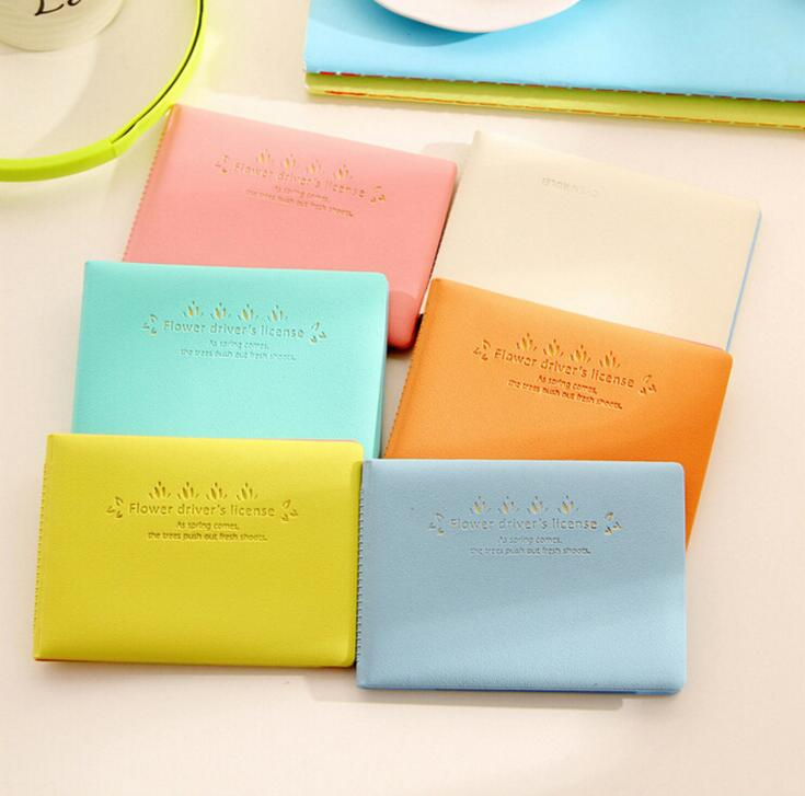 Korean Macaroon Color Brief Design Id Holders Card Container #1992 Gift For Kids Girls Boys
