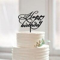 Szczęśliwy Birthday Cake Topper, 1st Birthday Cake Topper dla Baby Shower, Spersonalizowane Urodziny Cupcake Wykaszarki, Party Cake dekoracji
