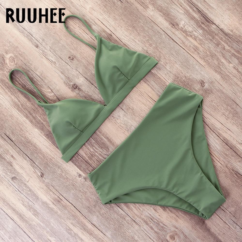 HTB1NPpvek5E3KVjSZFCq6zuzXXa0 RUUHEE Bikini 2019 Swimwear Women Swimsuit High Waist Bikini Set Push Up Bathing Suit Women Beach wear Maillot De Bain Biquini