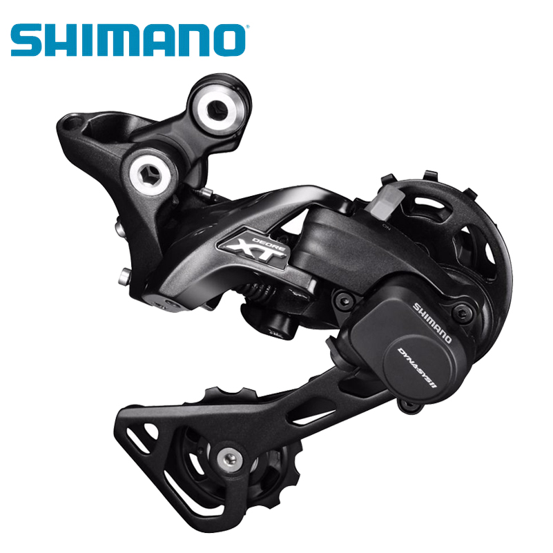 SHIMANO Deore XT M8000 Rear Derailleur Shadow RD+ GS 11 Speed Bicycle Derailleur Professionnel MTB Bicycle BMX Bike Derailleurs shimano deore xt m771 silver 9s 27s speed mtb bicycle rear derailleur part long cage