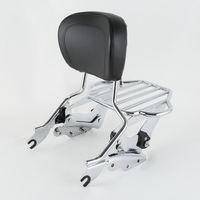 Motorcycle Detachable Backrest Sissy Bar Luggage Rack Docking Kit For Harley Touring Road King FLHR Glide Models 09 13