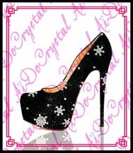 Aidocrystal mode damen schwarz farbe kristall top-marke hohe schuhe