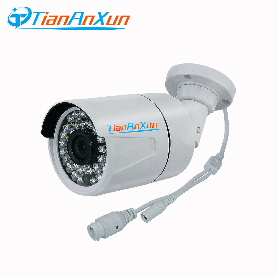 Tiananxun Security Cctv Poe Ip Camera Outdoor Network Camera Surveillance 720P 960P 1080P Ip Cam Night Vision Onvif P2P Xmeye цена