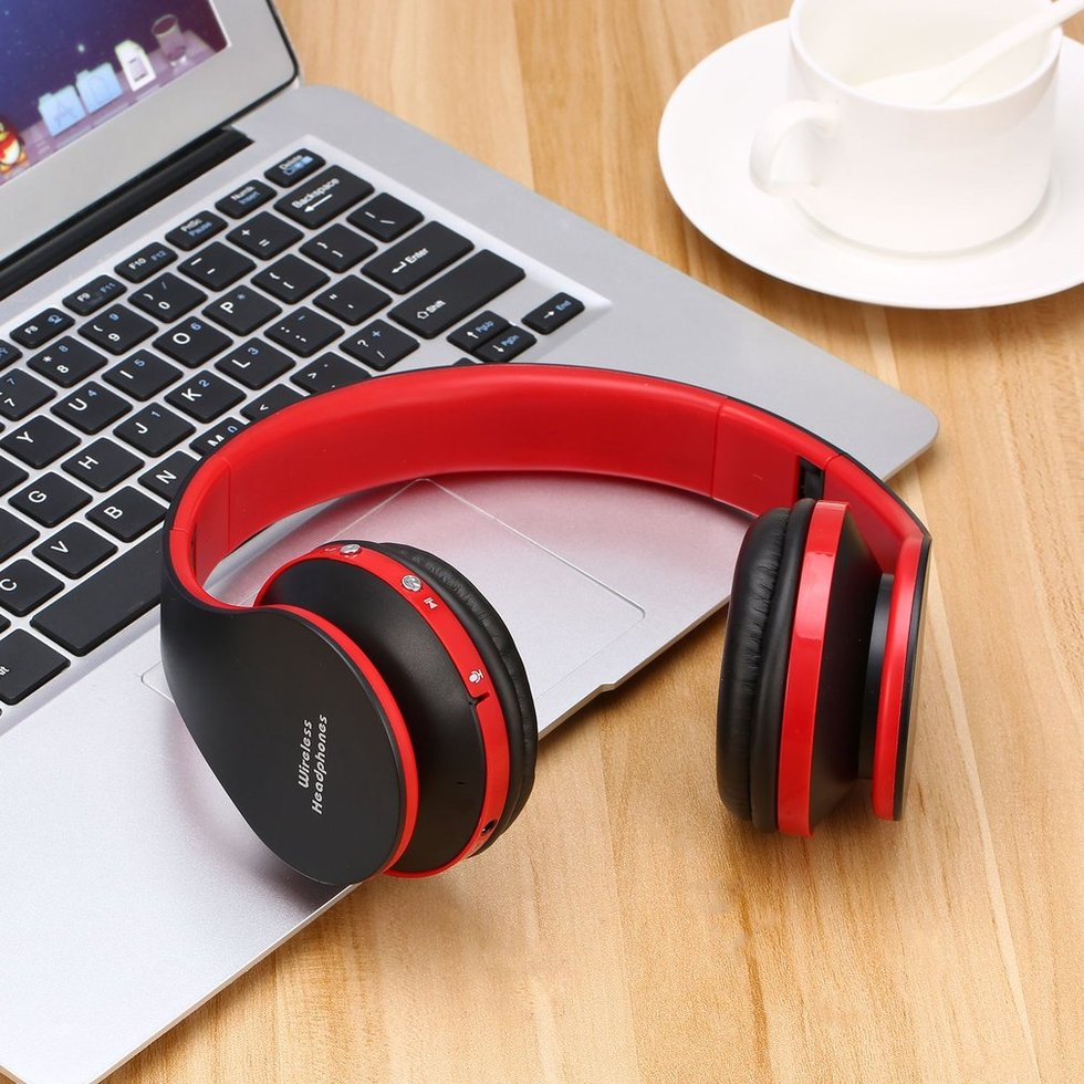 5PCS Foldable Stereo Bluetooth Headset Wireless Bluetooth Headphones With Mic Earphone For iPhone Cellphone Samsung Xiaomi 2018 new k6 wireless bluetooth earphone headphones stereo handsfree noise cancelling headset with mic for huawei xiaomi samsung