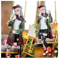 Anime Clothes Girls Frontline Dress Cool Suit g11 uniforms 404 squad Cosplay Costume Coat A