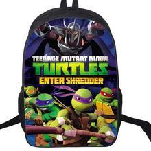 16 дюймов подростков мутанты Черепашки ниндзя мультфильм детский рюкзак школьные сумки Mochila для подростков дети мальчики девочки подарок