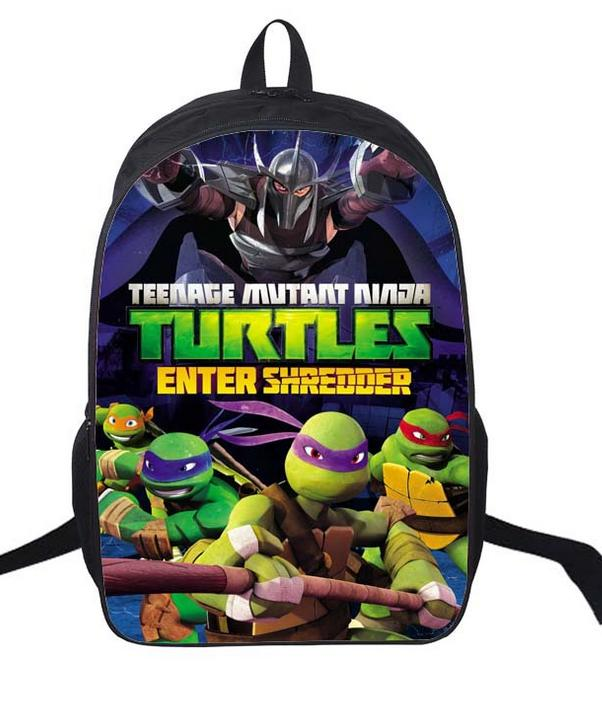 16 Inch Teenage Mutant Ninja Turtles Cartoon Children Backpack Student School Bags Mochila for Teenage Kids Boys Girls Gift funny cartoon game over backpack for teenage boys girls children school bags kids backpack laptop shoulder bags best gift