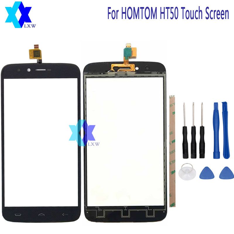 For HOMTOM HT50 Touch Screen Glass Original Guarantee Original New Glass Panel Touch Screen 5.5 inch +Tools+Adhesive