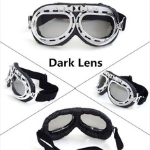 Hot Sell Vintage Harley Style Motorcycle Helmet Goggles Scooter Glasses Aviator Pilot Cruiser Steampunk 5 Colors