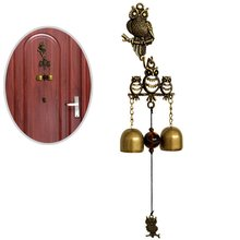 yooap Owl Wind Chimes Shopkeeper Entrance Lightweight Unique Creative Metal Hanging Doorbell Home Decor