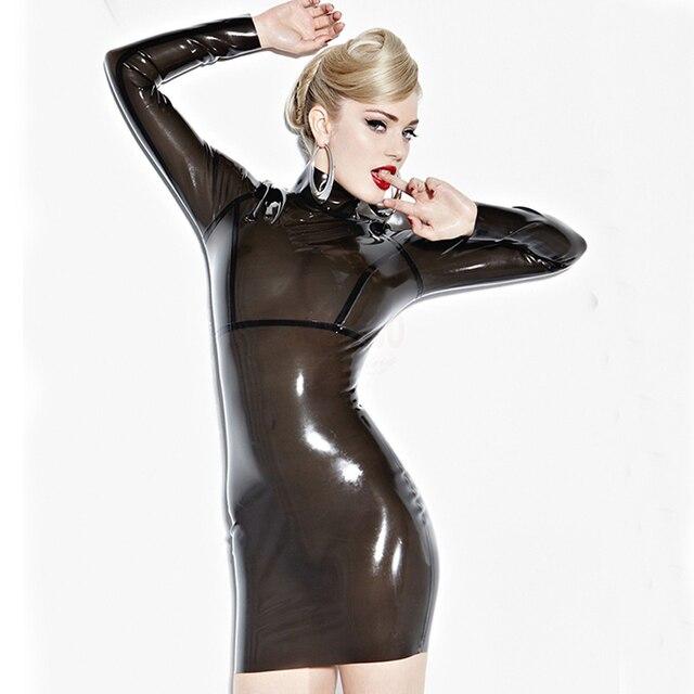 Summer dress Sexy Latex Bodycon Dress For Women Slim Fetish Rubber Vestidos  Plus Size Hot Sale Customize Service b86d6822aa34