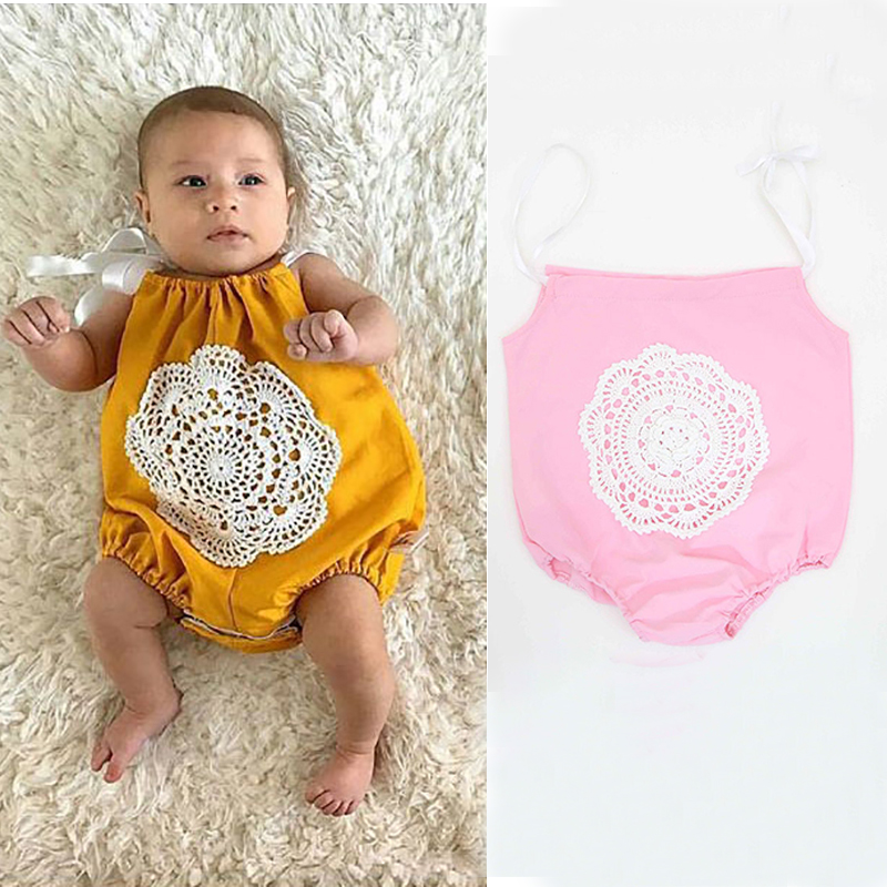 Newborn Baby Bodysuits 2018 Funny Girls Floral Printed Baby Body Suit Tiny Cotton Harness Clothes Overall China Imported Onesie