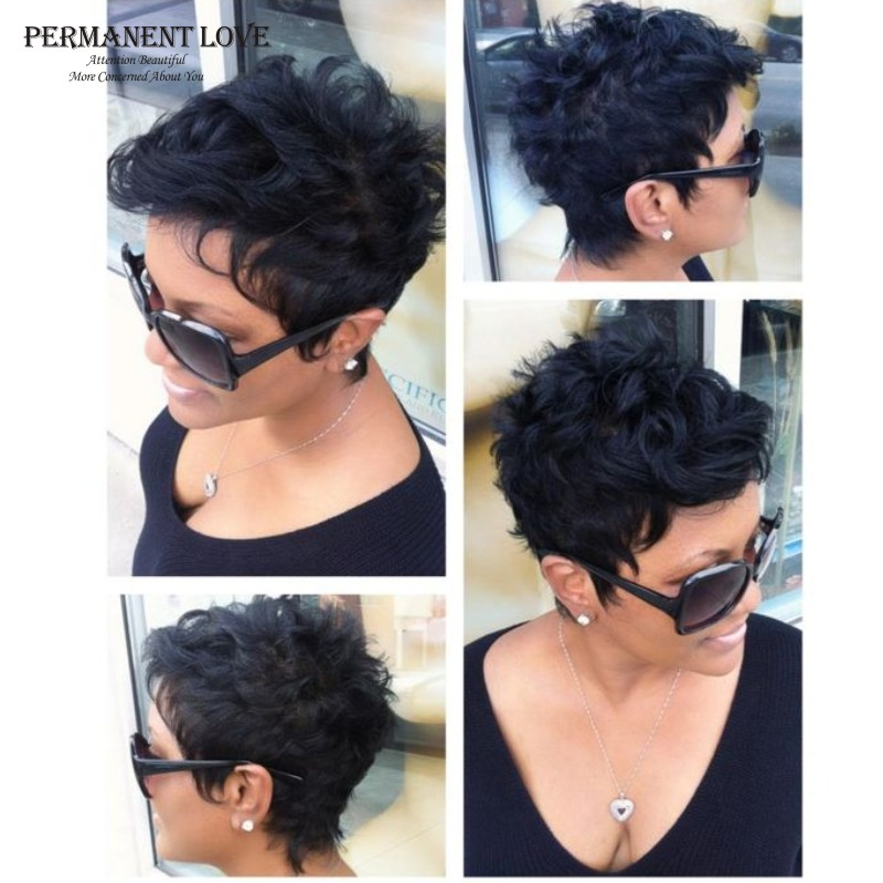 Synthetic Hair Short Wigs For Black Women Cheap Black