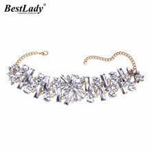 Best lady 2016 New Arrival Big Brand Luxury HotSale Collar Choker Necklace Maxi Jewelry Fashion Women Crystal Wedding Charm 3739