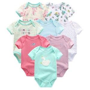 Image 5 - 8 шт./лот; Детские комбинезоны с короткими рукавами; Комбинезоны из 100% хлопка; Одежда для новорожденных; Roupas de bebe; Комбинезон и одежда для мальчиков и девочек