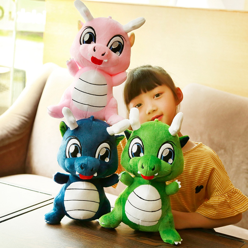 1pc 35cm Colorful Plush Dinosaur Toys Stuffed Plush Dinosaur Pillow Cushion Cartoon Dolls Children Kids Birthday Christmas Gifts