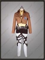 Attack on Titan Shingeki no Kyojin Hanji Zoe Recon Corps Cosplay Costume mp000891