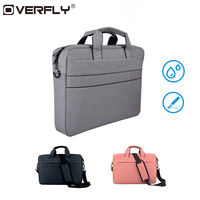 Overfly Laptop Bag Case 13 3 15 6 Inch Shoulder Handbag Computer Bags Waterproof Messenger Notebook