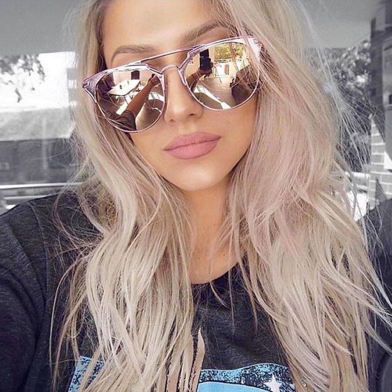 Runde Sonnenbrille mit halbem Rahmen Frauen Retro Vintage - Bekleidungszubehör - Foto 1