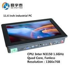Mini PC N3150 Quad Core 4 Threads Fanless Industrial PC Celeron Win7 Desktop Computer 11.6 inch LED Screen Resolution 1366x768(China (Mainland))