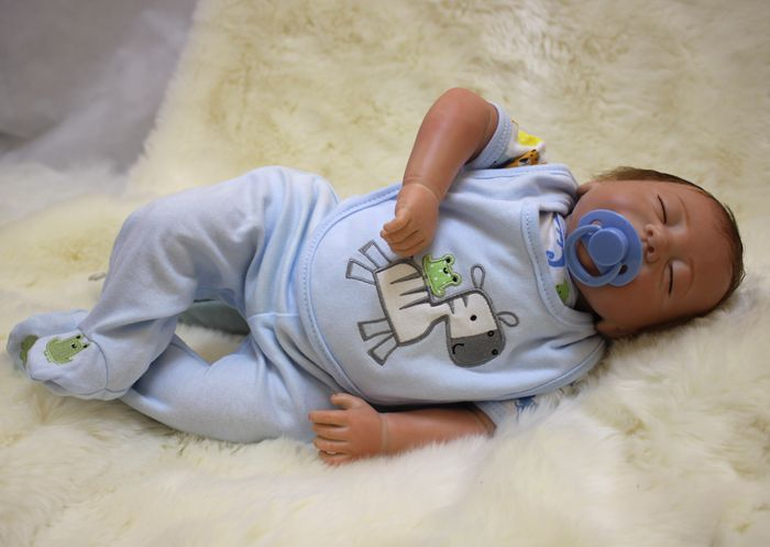 Silicone Reborn Baby Doll Girls Toys 20Inch Cute Girl Doll For Christmas Gift Lifelike Reborn Kids Toy Play Doll
