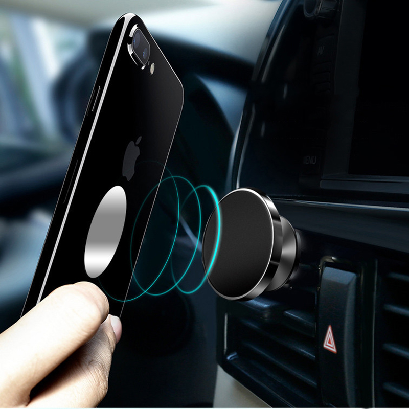 Magnetic Telephone Holder Round Plane Car Mobile Phone Universal Support Stand Magnet for iPhone 7 6 samsung xiaomi huawei honor in Phone Holders Stands from Cellphones Telecommunications