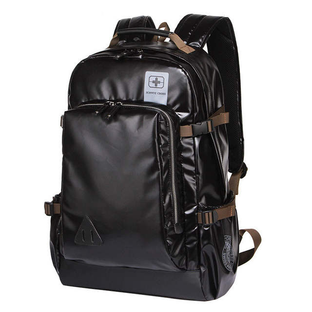 Comfy Shockproof Business Casual Laptop Backpack Side Buckle Women Korean  Style Fashion Travel Bag Men Trendy ee556969b1a0e