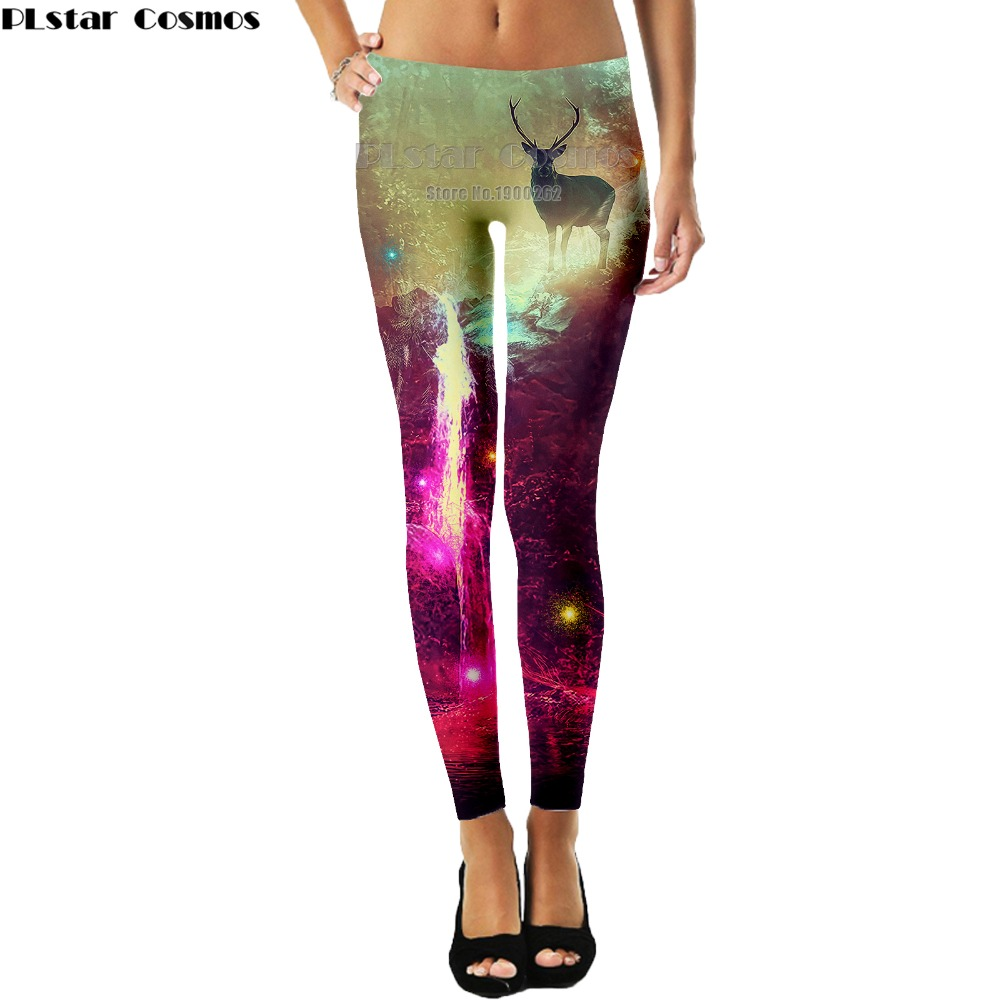 PLstar Cosmos Animal style deer cute natural scenery Leggings Popular Brand 3D Full Print Women New Style drop shipping