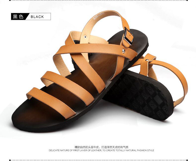 55b46bfffaa ... y3 male sandals slippers shoes breathable casual men leather beach  sandals flat fashion sandalsUSD 47.99 pair. 3. 5. 6. 7. 8. 9. 10. 11