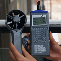AZ9671 Handheld Hygrothermograph Air Temperature and Air Flow Meter Anemometer with Wind Speed Range 0.6~32 m/s