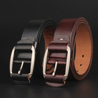 105 130cm Retro Cowhide Leather Buckle Belt Men S Strap Ceinture Marque 2017 Fashion Antique Casual