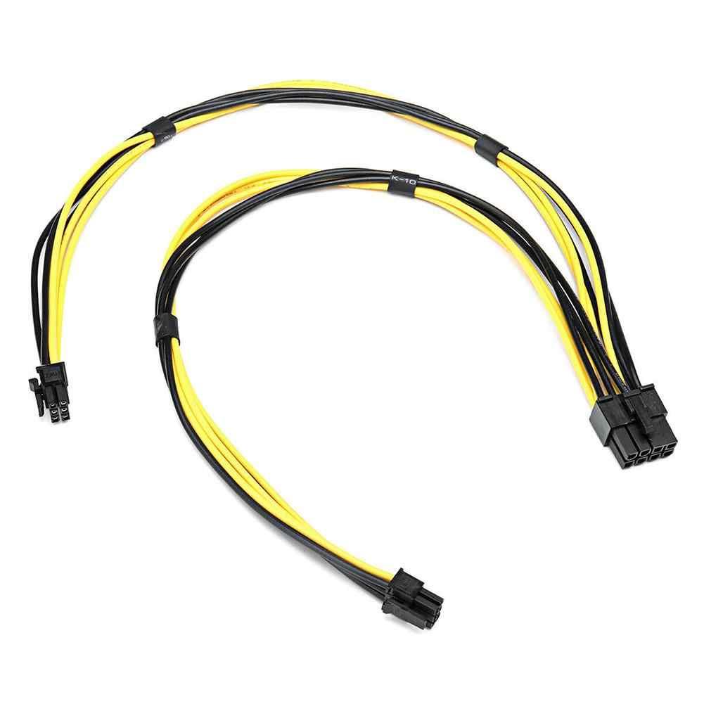 Mac Pro için ekran kartı grafik kartı 18AWG çift Mini 6 Pin 8 Pin erkek PCI-E güç kablosu