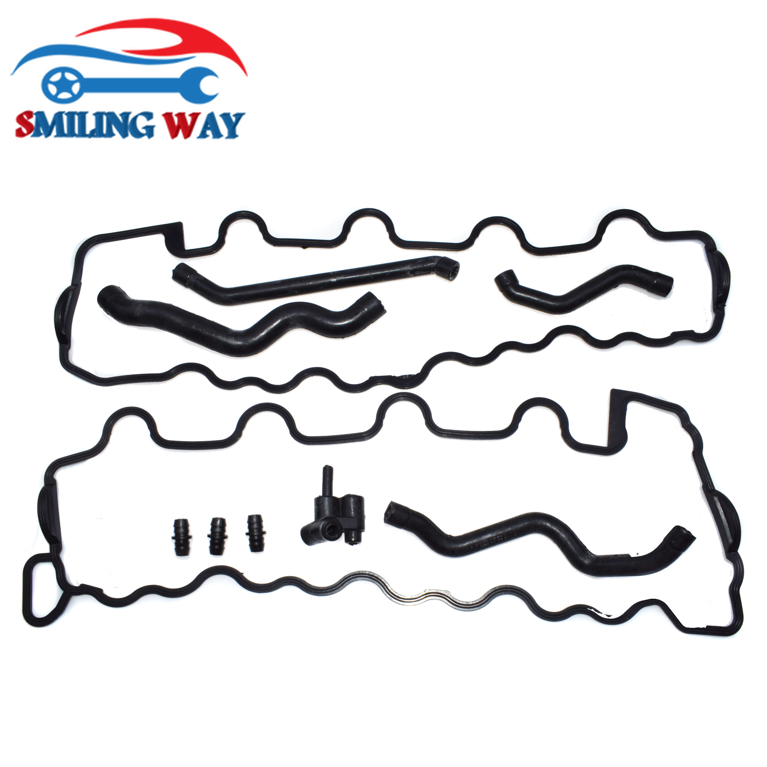 SMILING WAY Crankcase Breather Hose Pipe Tube Connector Valve Cover Gasket For Mercedes Benz W203 W210