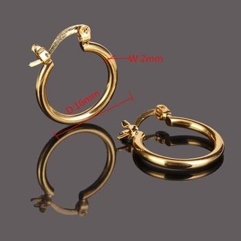 14 ك الصلبة الذهب إنهاء القرط أزياء نموذج جديد حلق الذهبي مجوهرات الذهب