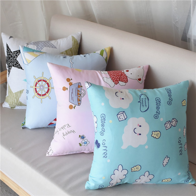 1Pcs 40*40cm Family Cushion Cover Soft Plush Pillow Home Room Office Decoration Back Throw Sofa Cushion Cover Pillowcase