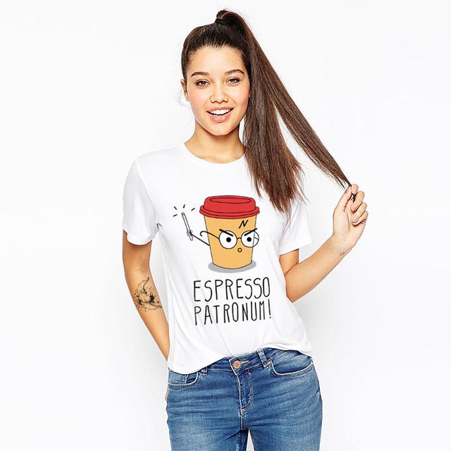 Cute Magic Cup Print T-Shirt