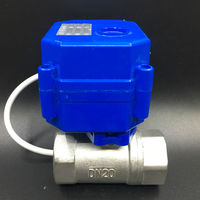 12v Control Water Motorized Valve 3 4 Stainless Steel Valve 2 3 5 Wires For Water