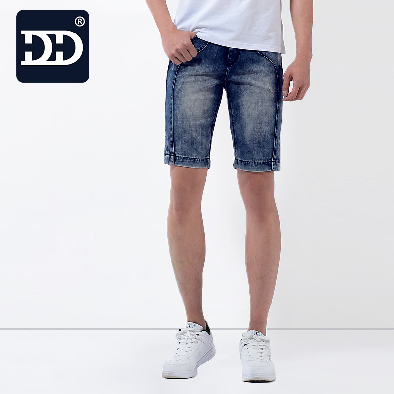 2016 Factory washed Brand New exclusive design slim fit men shorts jeans men summer nice and