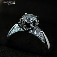 Wholesalers Jewellery Silver Color Rings For Women Handmade Brand Jewelry Birthday Weddings Ladies Girls Lover Gifts