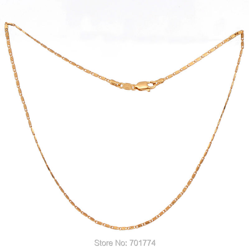 New Boys Girls 18K Yellow Gold Plated Simple Carving Bead Chain ...